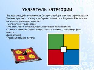 Указатель категории Эта карточка даёт возможность быстрого выбора и начала ст