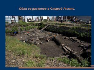 Один из раскопов в Старой Рязани.