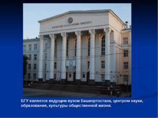 БГУ является ведущим вузом Башкортостана, центром науки, образования, культур
