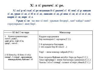 Хәл төркемчәләре. Хәлләр мәгънәләре ягыннан 8 төркемчәгә бүленәләр: вакыт хәл