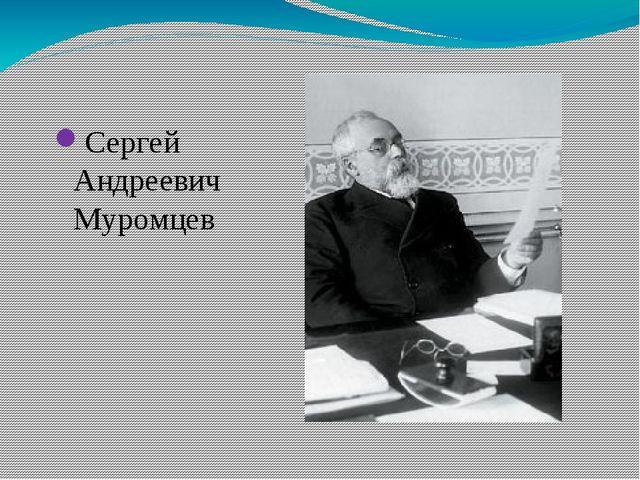 Сергей Андреевич Муромцев