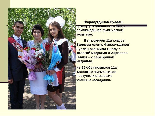 Выпускники 11а класса Валеева Алена, Фарахутдинов Руслан окончили школу с зо...