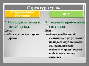 3. Создание проблемной ситуации Цель: создание проблемной ситуации, в результ