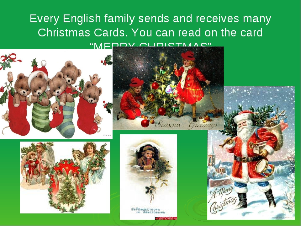 Every English family sends and receives many Christmas Cards. You can read on...
