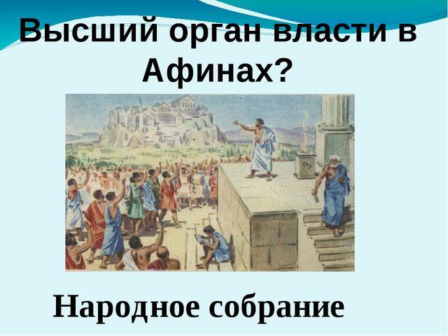 Высший орган власти в Афинах? Народное собрание