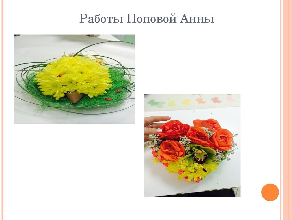 Работы Поповой Анны
