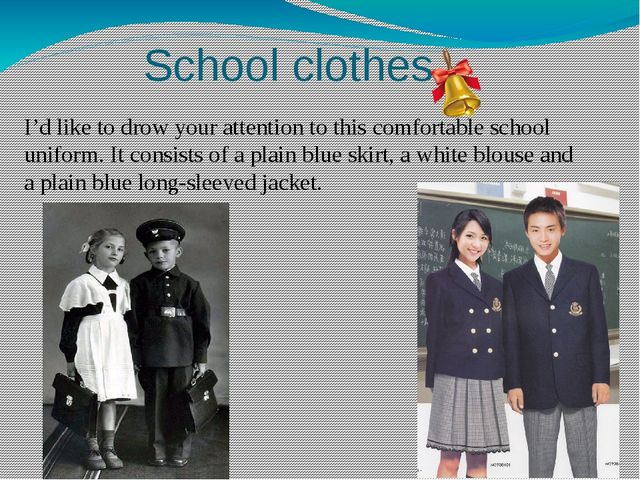 School clothes I'd like to drow your attention to this comfortable school uni...