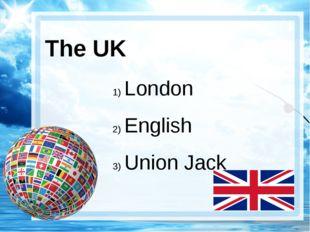 The UK London English Union Jack