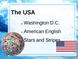 The USA Washington D.C. American English Stars and Stripes