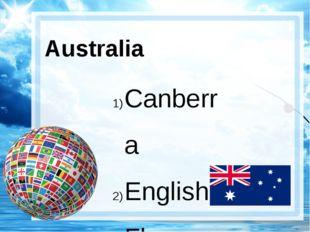 Australia Canberra English Flag