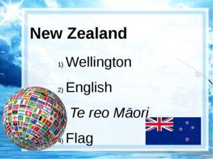 New Zealand Wellington English Te reo Māori Flag