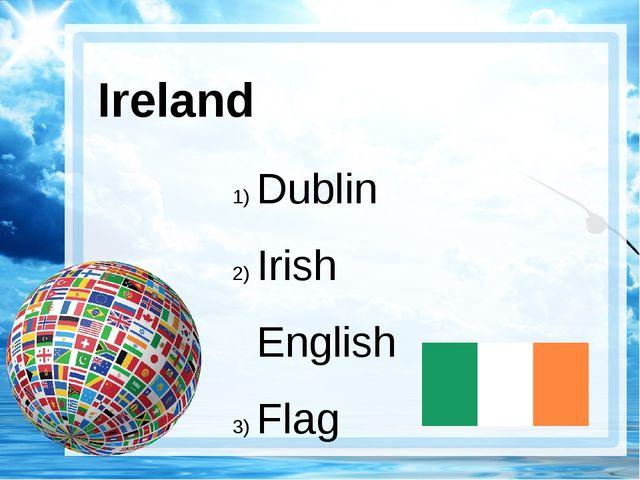 Ireland Dublin Irish English Flag