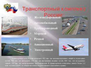 Транспортный комплекс России: Железнодорожный Автомобильный Трубопроводный М