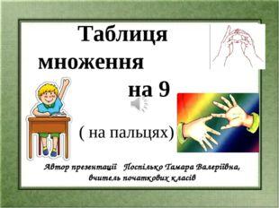 ( на пальцях) Автор презентації Поспілько Тамара Валеріївна, вчитель початков