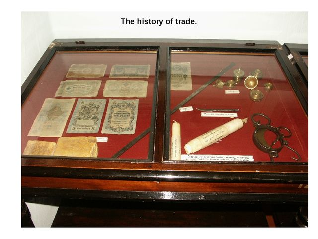 The history of trade.