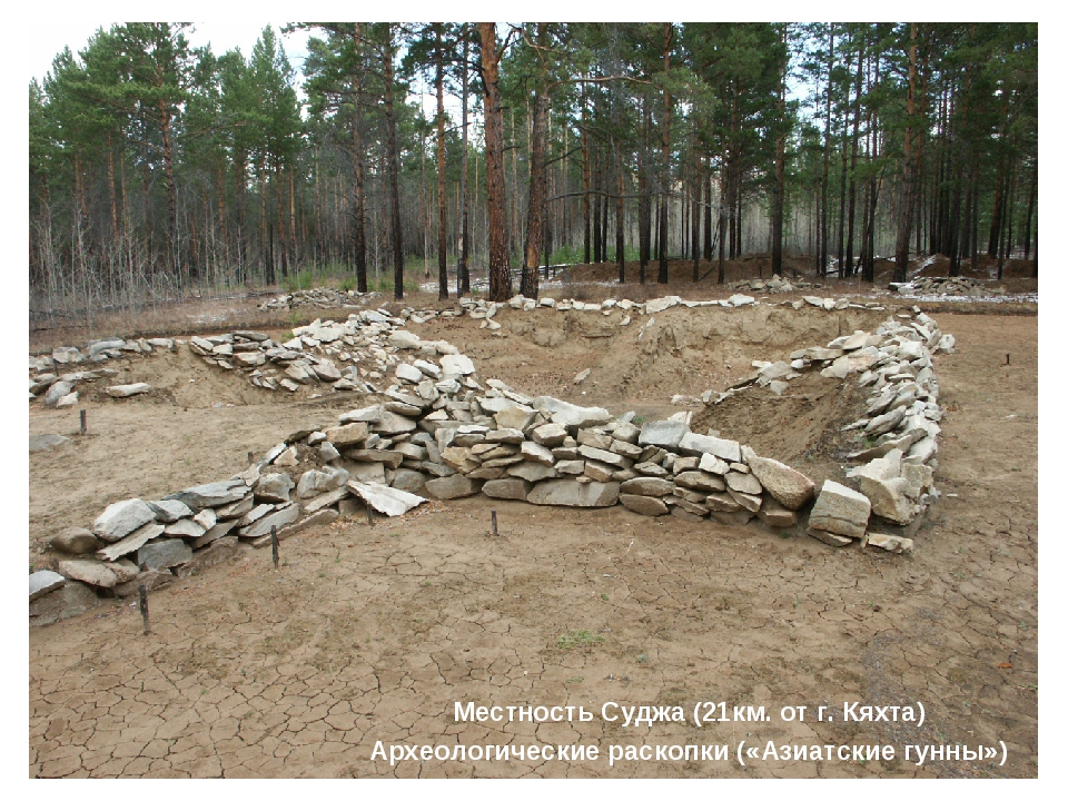 Местность Суджа (21км. от г. Кяхта) Археологические раскопки («Азиатские гунн...