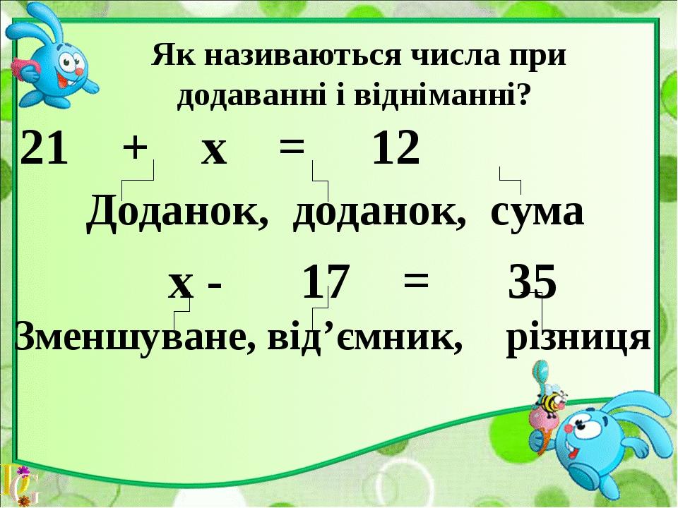 Як називаються числа при множенні і діленні ? Х х 7 = 35 Множник,множник,доб...