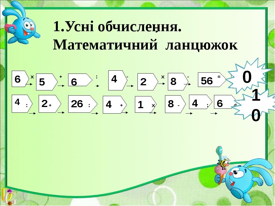 Математичний диктант. Ділене 40, дільник 8, знайти частку. Місткість бочки 7...