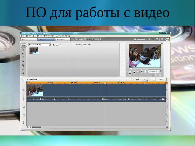 ПО для работы с видео