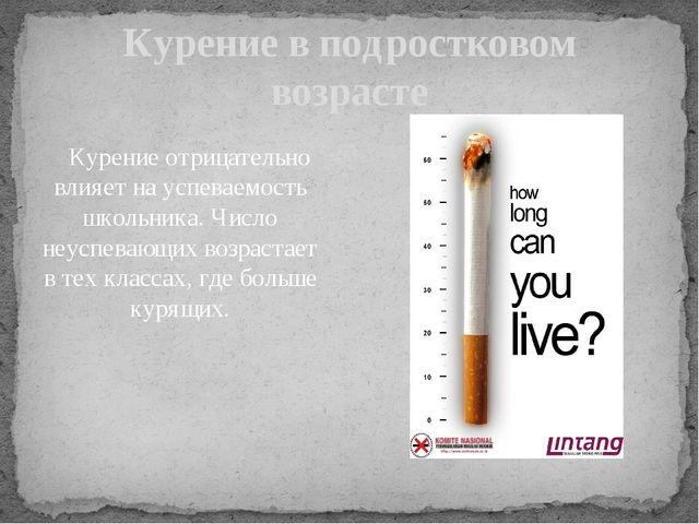 Курение отрицательно влияет на успеваемость школьника. Число неуспевающих во...
