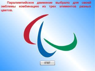 Паралимпийское движение выбрало для своей эмблемы комбинацию из трех элемент