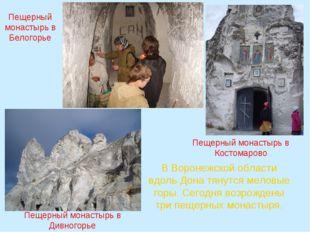 В Воронежской области вдоль Дона тянутся меловые горы. Сегодня возрождены три