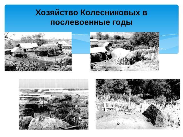 Хозяйство Колесниковых в послевоенные годы