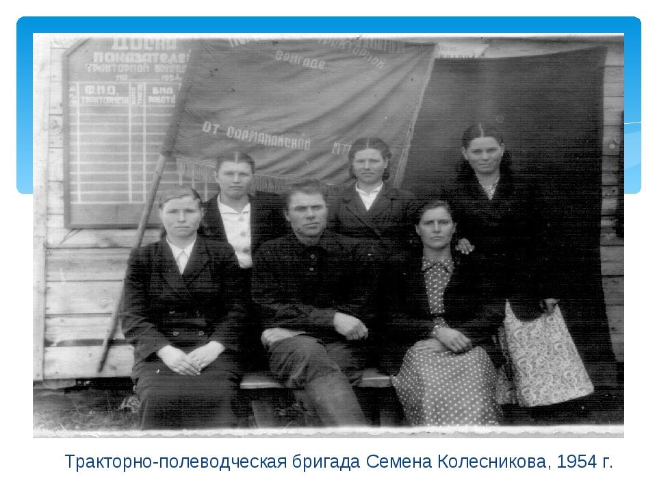 Тракторно-полеводческая бригада Семена Колесникова, 1954 г.
