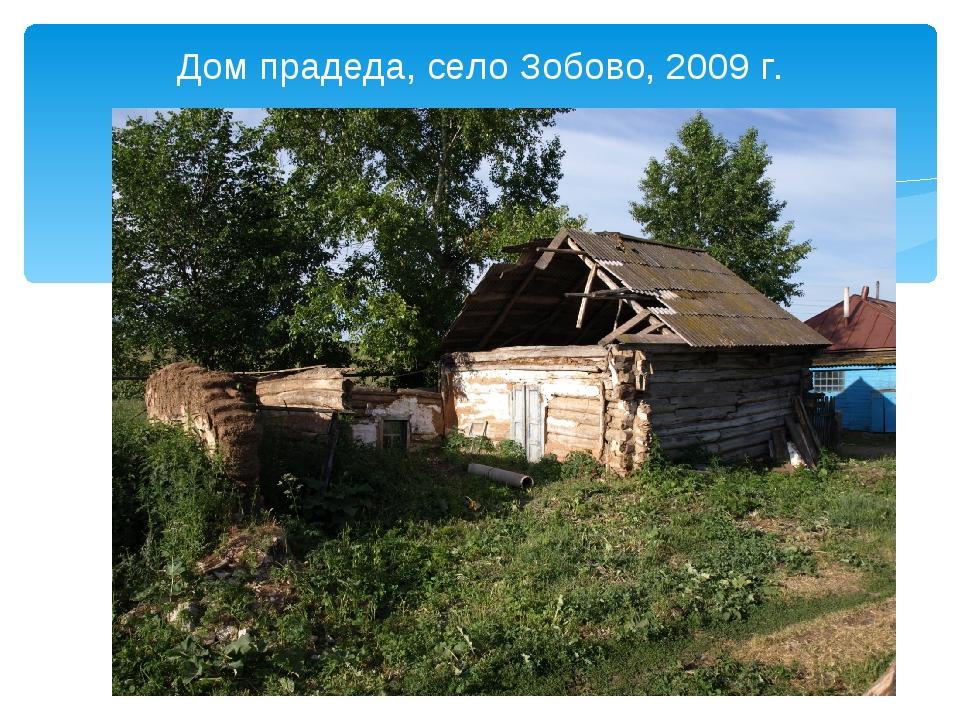 Дом прадеда, село Зобово, 2009 г.