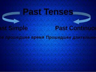 Past Tenses Past Simple Past Continuous Простое прошедшее время Прошедшее дл