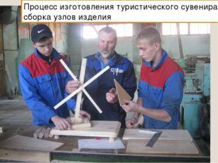 Процесс изготовления туристического сувенира: сборка узлов изделия