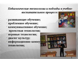 Педагогические технологии и подходы в учебно-воспитательном процессе: развив