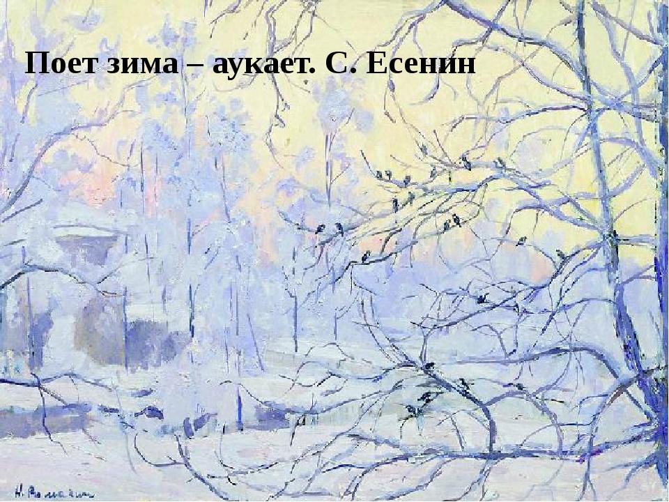 Поет зима – аукает. С. Есенин Поет зима – аукает. С. Есенин