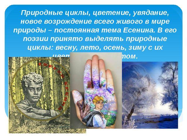 Природные циклы, цветение, увядание, новое возрождение всего живого в мире пр...