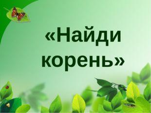 «Найди корень»
