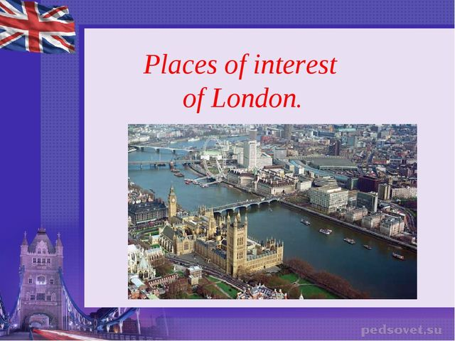 Places of interest of London.