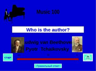 Ludwig van Beethoven Pyotr Tchaikovsky Who is the author? Music 100 0 30 60