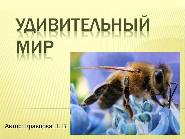 Автор: Кравцова Н. В.