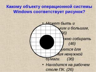 Какому объекту операционной системы Windows соответствует рисунок? Может быть
