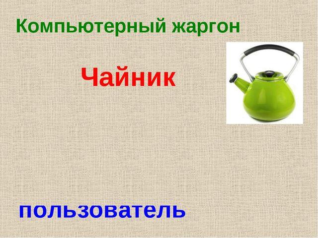 Компьютерный жаргон Чайник Начинающий, неопытный пользователь