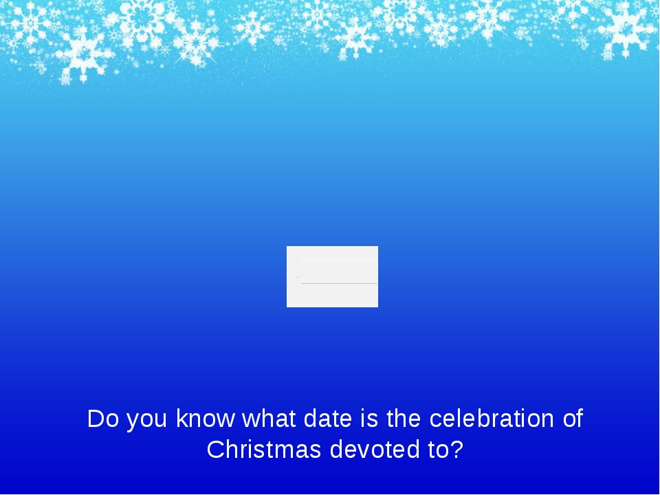 Do you know what date is the celebration of Christmas devoted to?