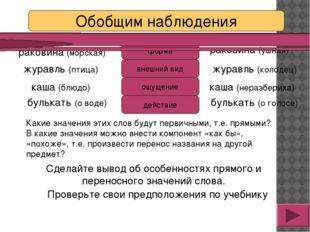 Сделайте вывод об особенностях прямого и переносного значений слова. каша (бл