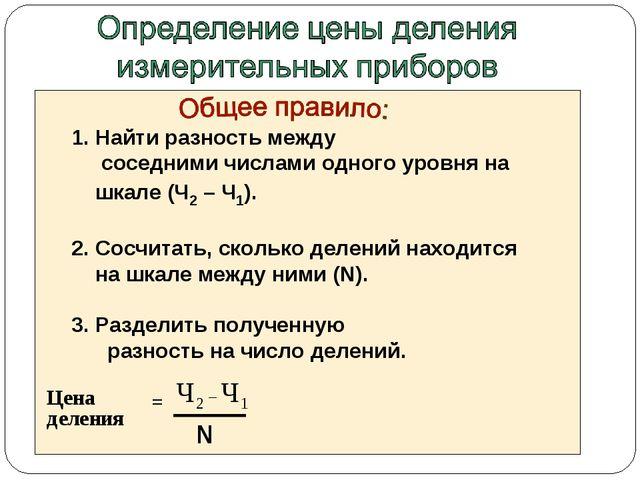 * Найти разность между соседними числами одного уровня на шкале (Ч2 – Ч1). Со...