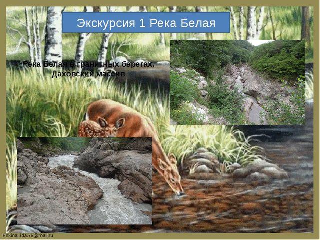 Экскурсия 1 Река Белая Река Белая в гранитных берегах. Даховский массив Fokin...
