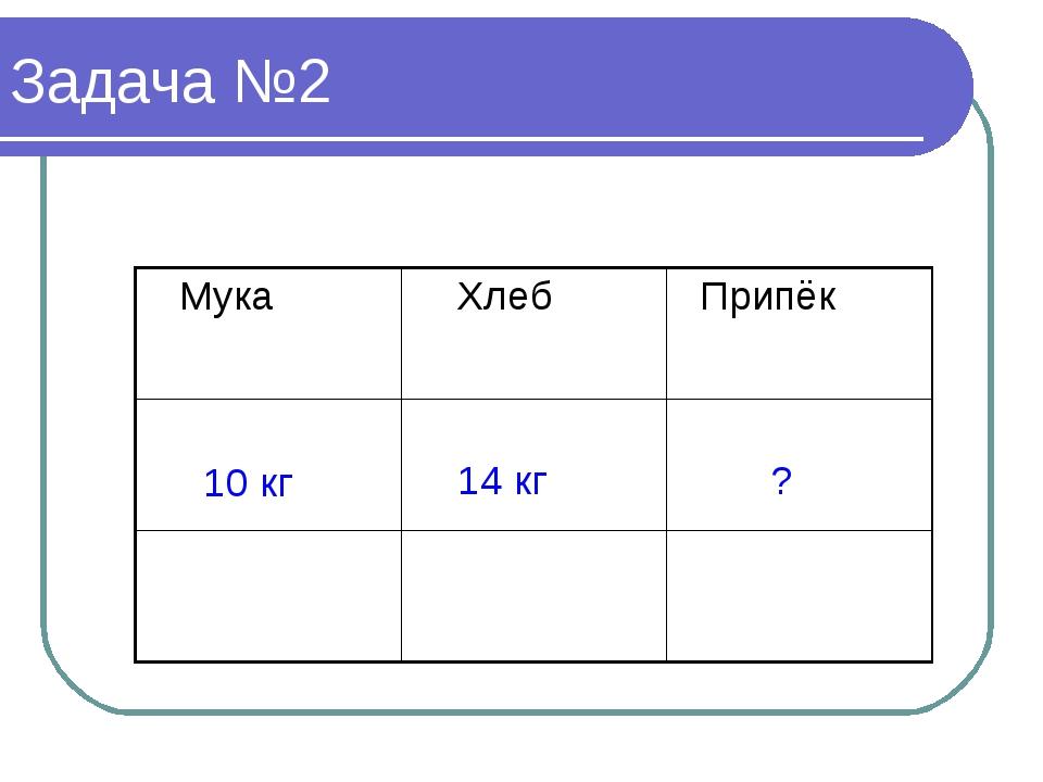 Задача №2 10 кг 14 кг ?