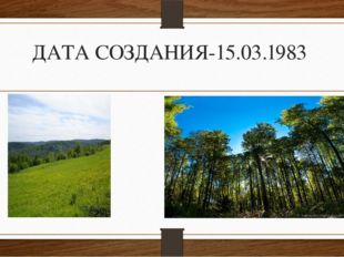 ДАТА СОЗДАНИЯ-15.03.1983