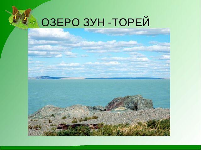 ОЗЕРО ЗУН -ТОРЕЙ