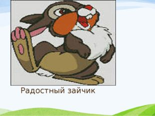 Радостный зайчик
