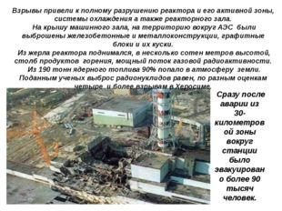Сразу после аварии из 30- километровой зоны вокруг станции было эвакуировано