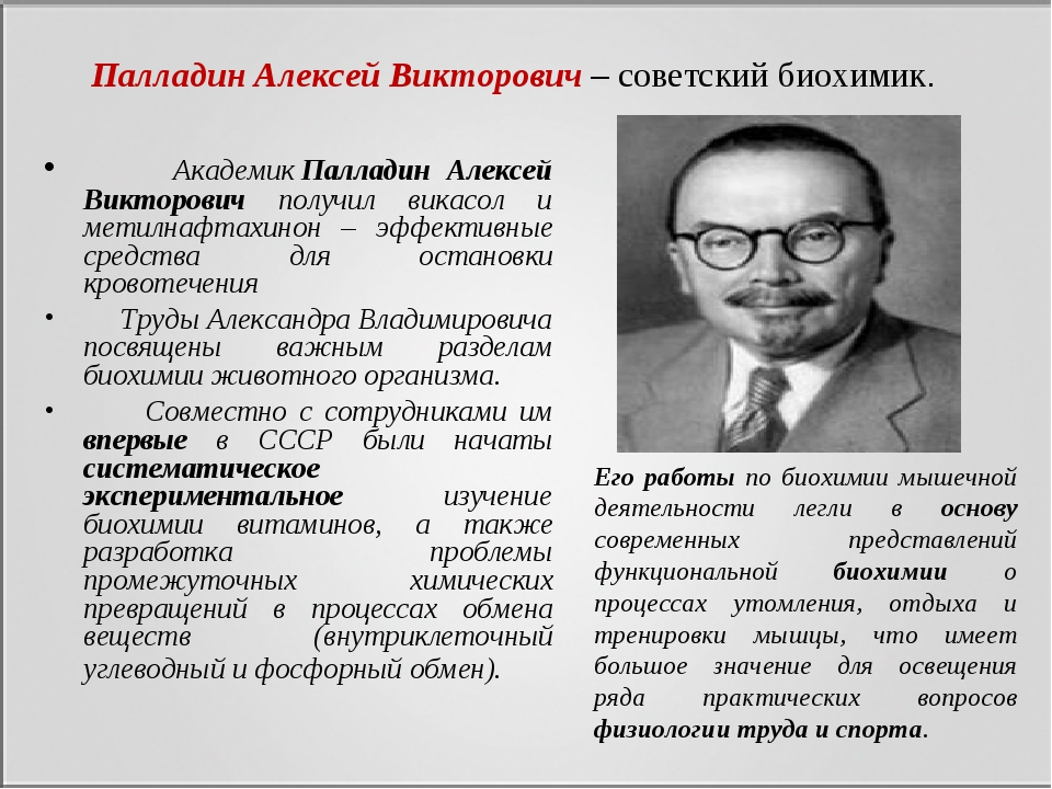 АкадемикПалладин Алексей Викторович получил викасол и метилнафтахинон – эфф...